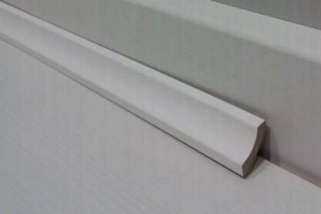 White MDF Scotia Beading 16mm by 16mm by 2400mm AC6047 2