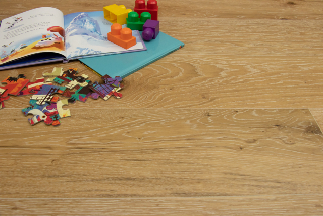 Natural Engineered Flooring Oak White Wash Brushed UV Lacquered 14/3mm By 190mm By 400-1500mm FL1280 0