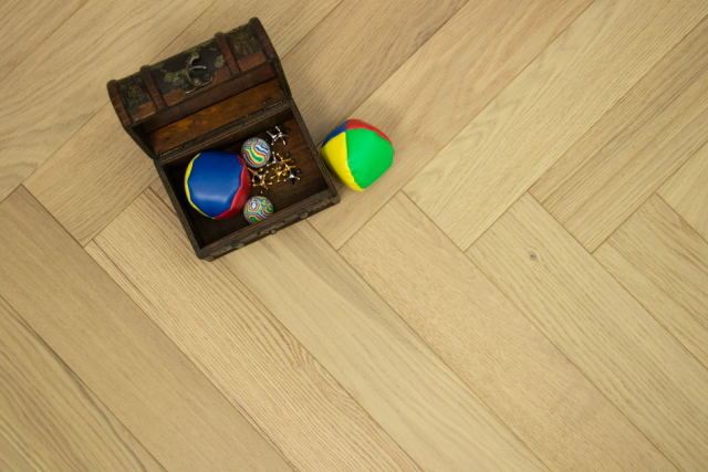 Natural Engineered Flooring Oak Herringbone Raw Look Brushed UV Lacquered 15/4mm By 90mm By 600mm FL3631 0