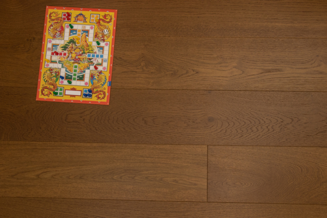 Natural Engineered Flooring Oak Click Vivid S Brushed UV Lacquered 14/3mm By 190mm By 1900mm FL3427 0