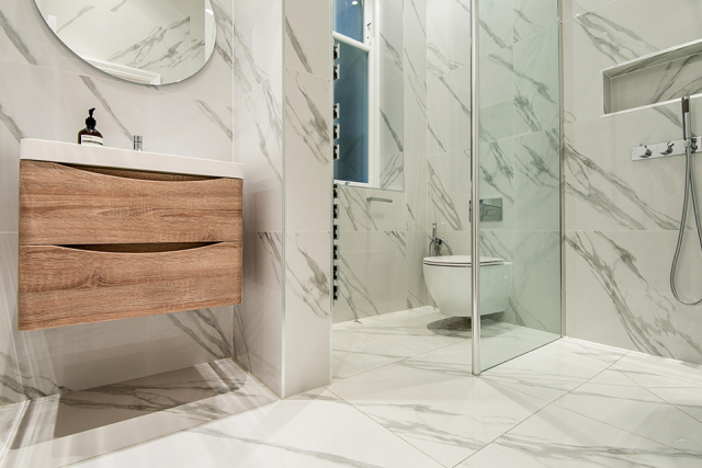 Porcelain Tile Calacatta 600mm By 1200mm TL150 0