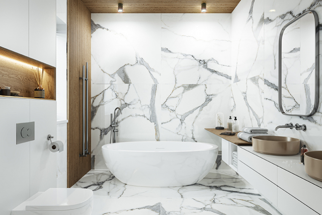 Porcelain Tile Calacatta Oro 1200mm By 1200mm TL151 1
