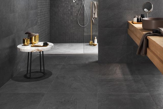 Porcelain Tile Minerva Black 600mm By 600mm TL125 1