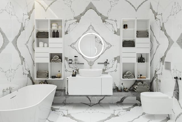 Porcelain Tile Statuario BK 1200mm By 1200mm TL153 1