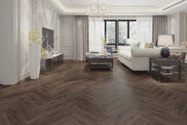 Supremo Herringbone Core Brown Rio 6mm(include 1mm underlay)  VL044 1