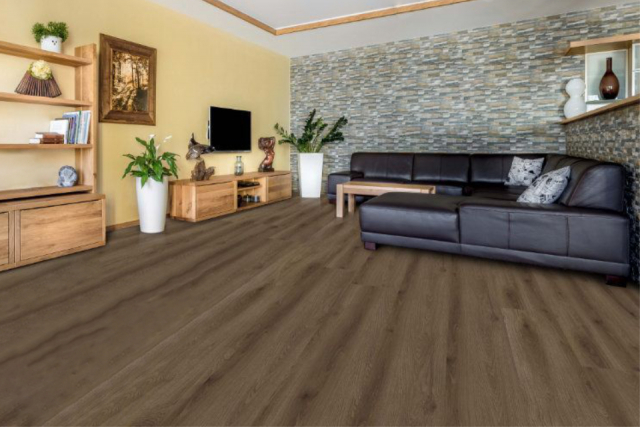 Supremo Rigid Core Brown Rosemary 6.5mm(include 1mm underlay)  VL048 0
