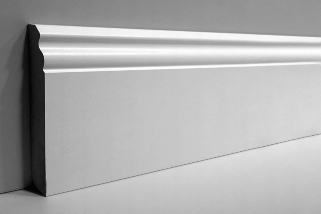 White MDF Skirting Board 120mm by 15mm by 2500mm AC6077-1 0