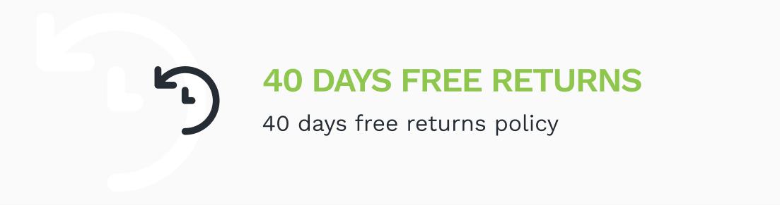 40 Days Free Returns